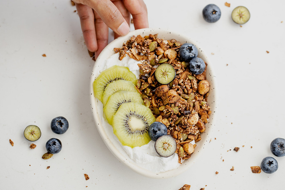 Paleo Granola with macadamia nuts and coconut