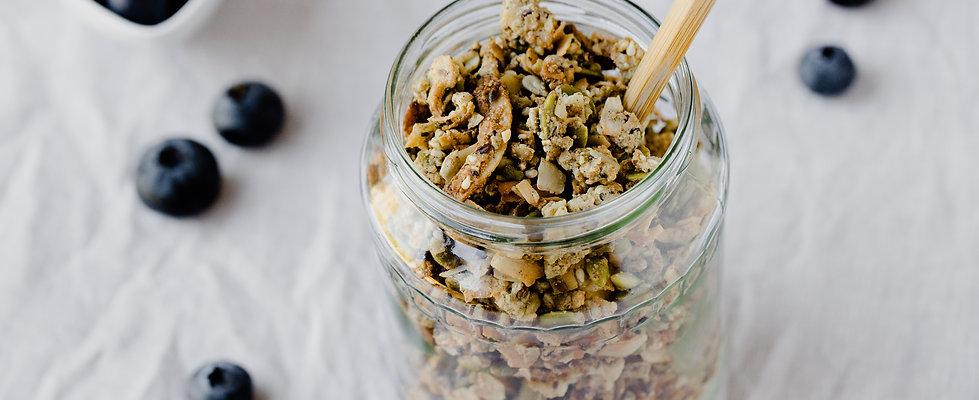 No Nut Hemp Granola: Paleo Granola