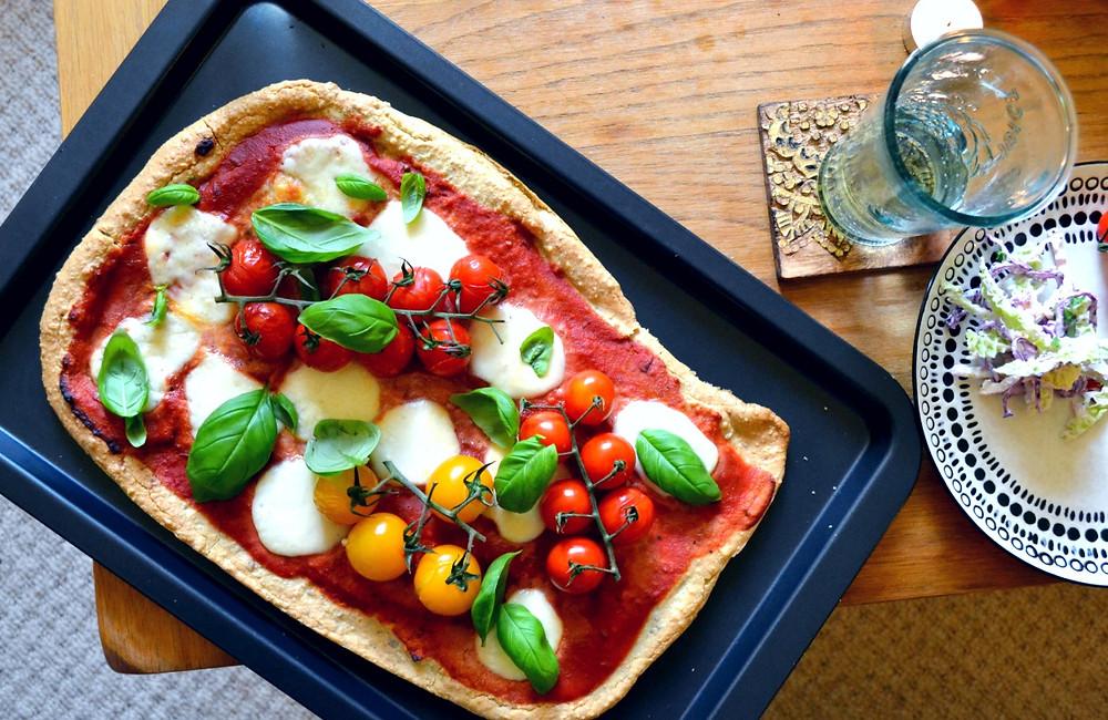 grain free margherita pizza