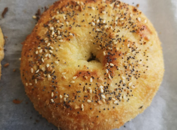 Keto Bagels with Onion Seasoning