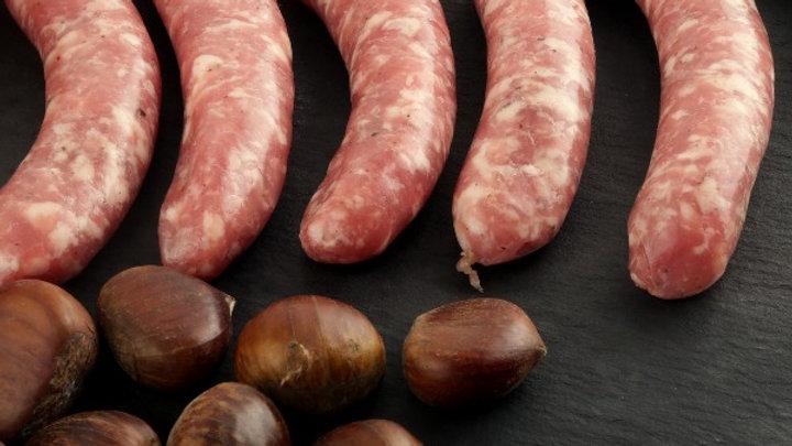 Pork and Chestnut Sausages
