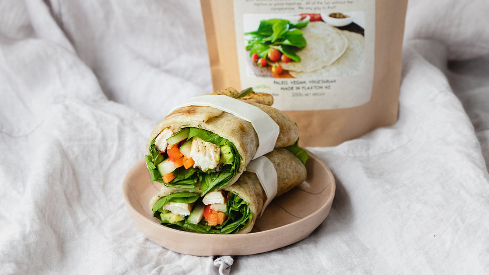 Paleo Wraps Mix: No-Nut Hemp Wraps