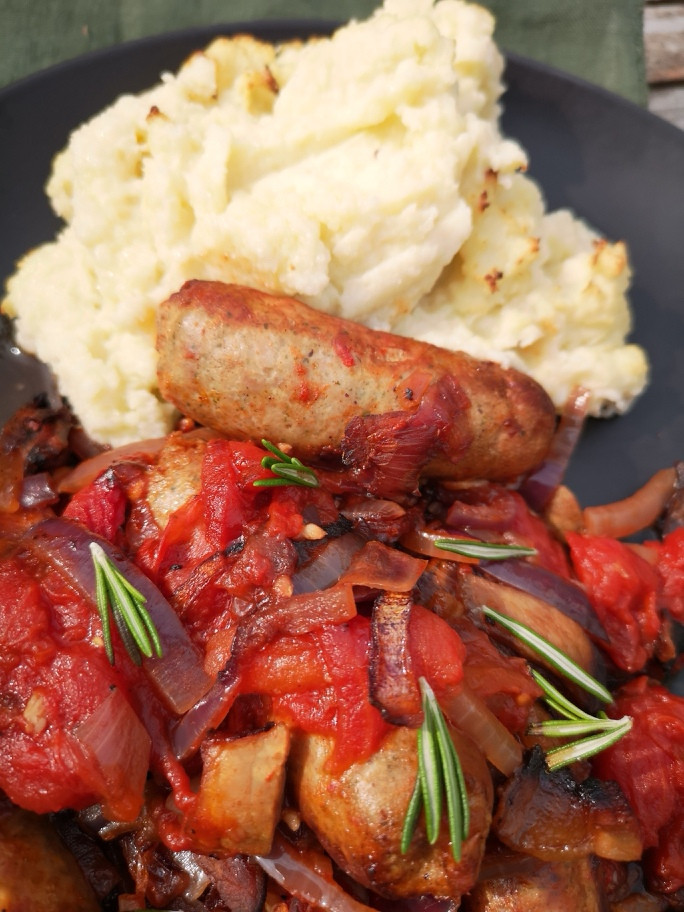 low-carb-sicilian-sausage-and-mash