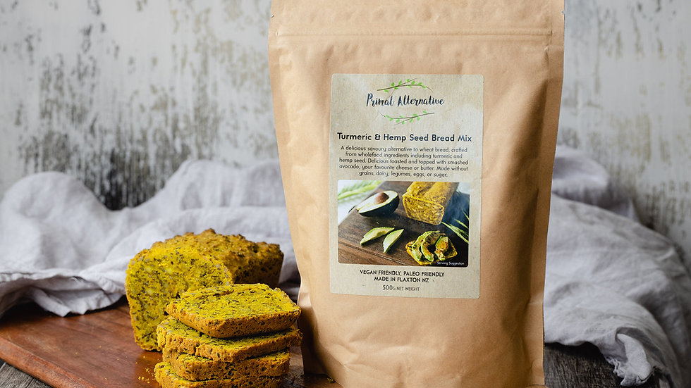Tumeric and Hemp Bread Mix