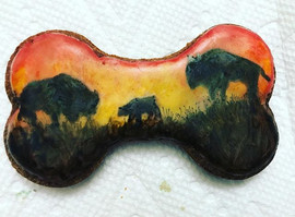 Bison biscuit! Lol! It's actually banana