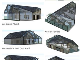 PC déposé pour une maison bois et paille très basse consommation à Saint Etienne de Montluc (44)