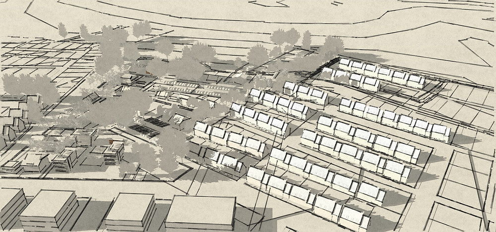 """Le quartier """"innovant """" dans la ZAC"""