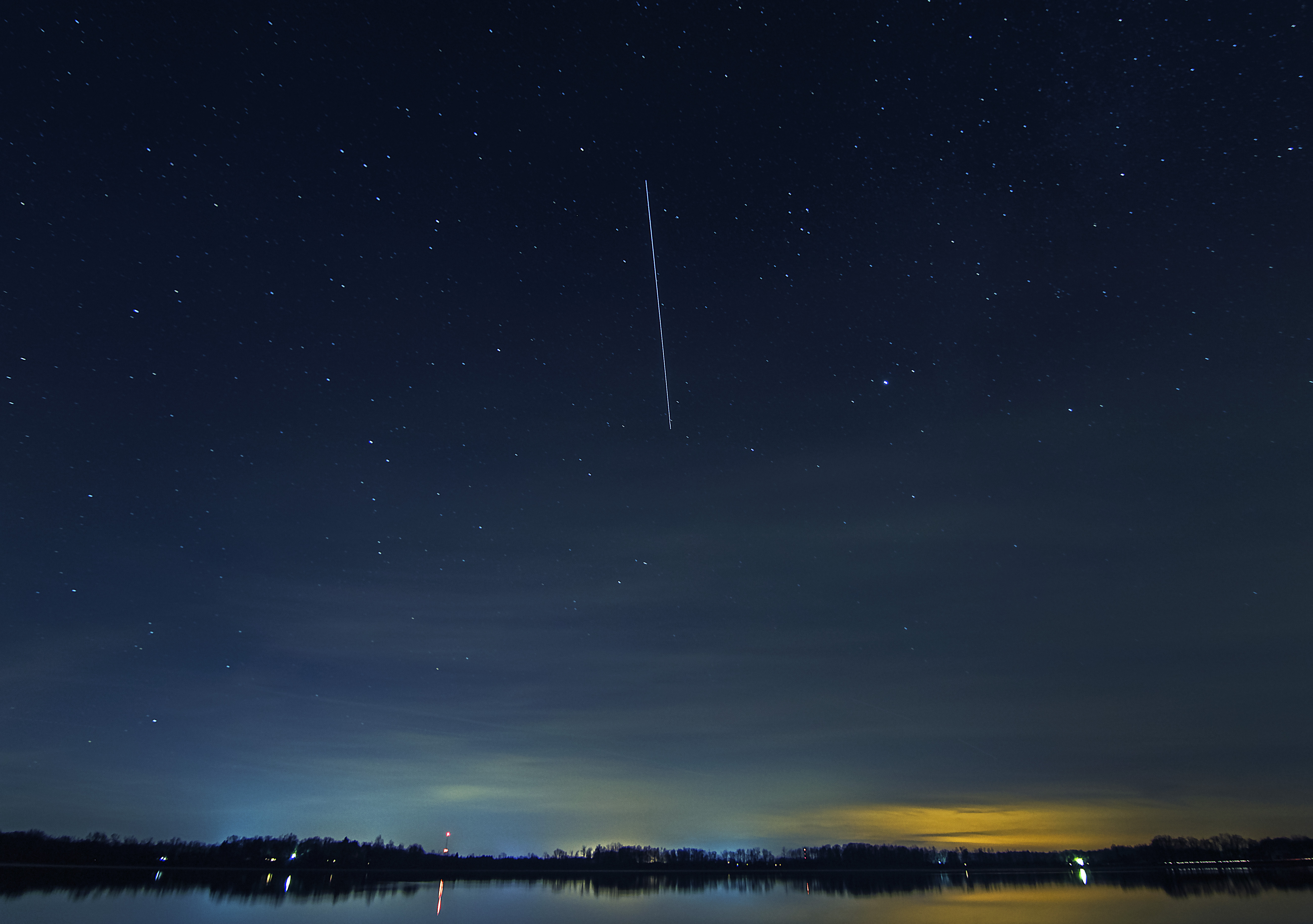International Space Station over Wall Lake 2015.