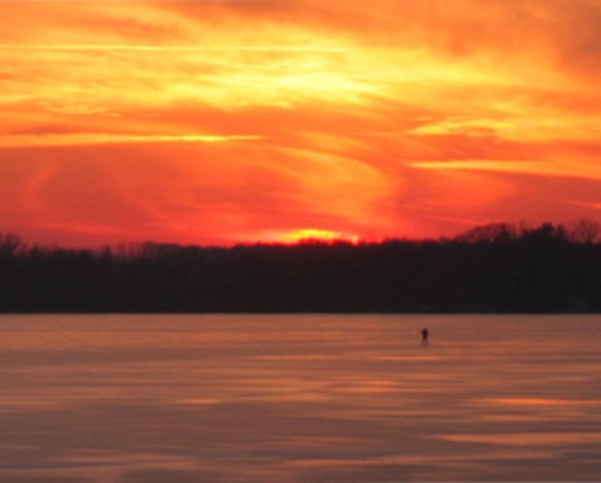 Sunset on Wall Lake