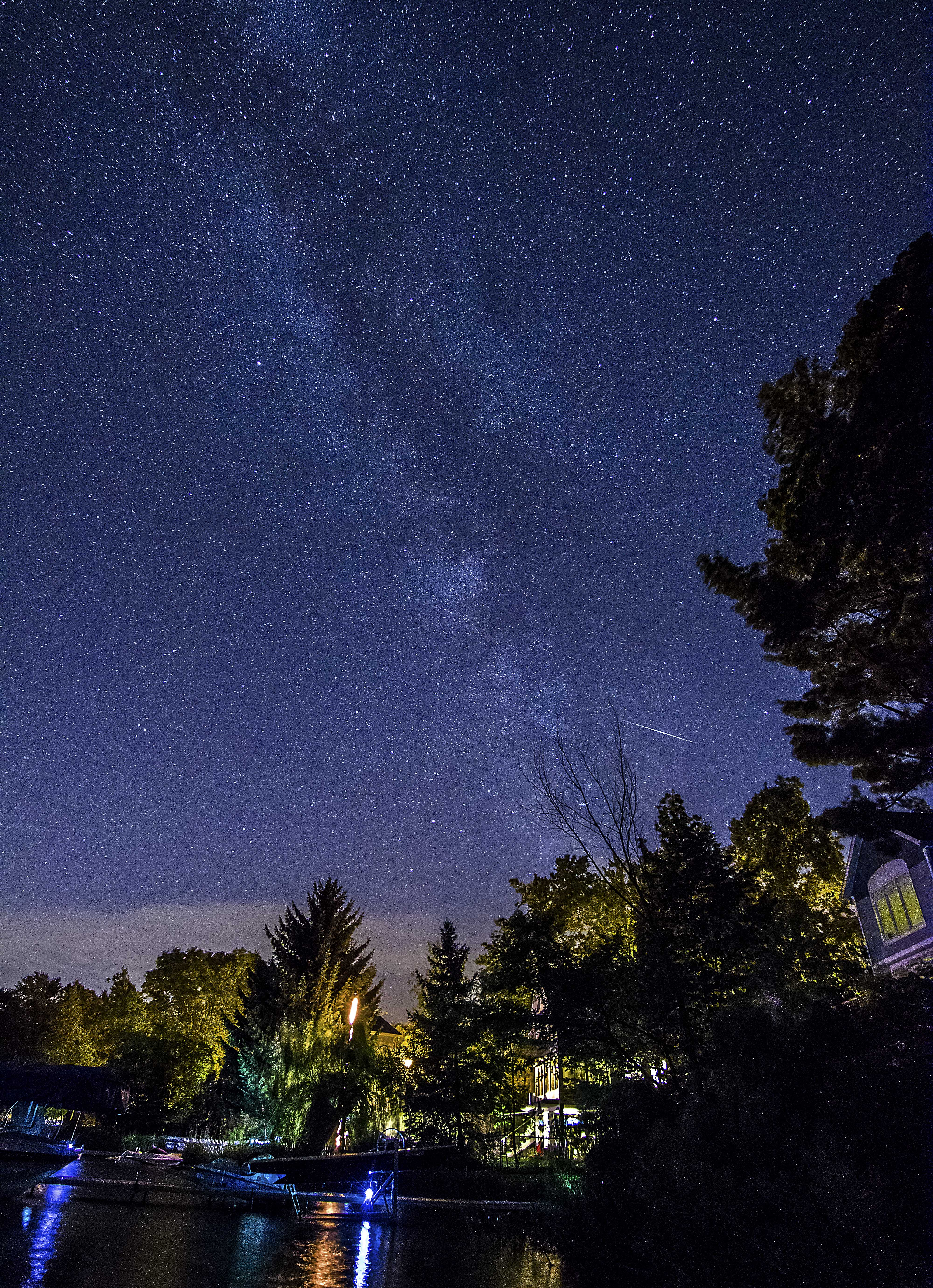 Milky Way and Meteor 2016