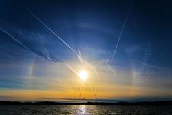 Solar Halo Sunset 2016