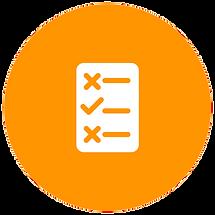 Kreis mit Checkliste