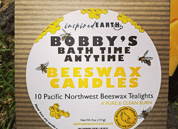Bobby's Bath Time, Anytime, Beeswax Tealight Candles