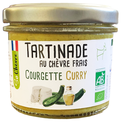 Tartinade au chèvre frais Courgette curry So Chèvre Bio