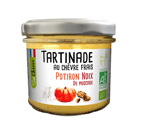 Tartinade au chèvre frais Potiron noix de Muscade So Chèvre