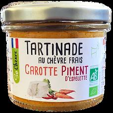 Tartinade au chèvre frais Carotte piment d'Espelette So Chèvre Bio