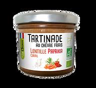 Tartinade So Chèvre au chèvre frais lentille corail paprika, bio