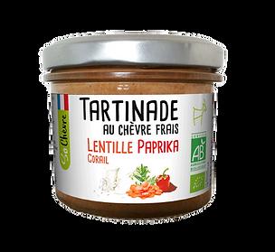 Tartinade au chèvre frais Lentille corail paprika So Chèvre Bio
