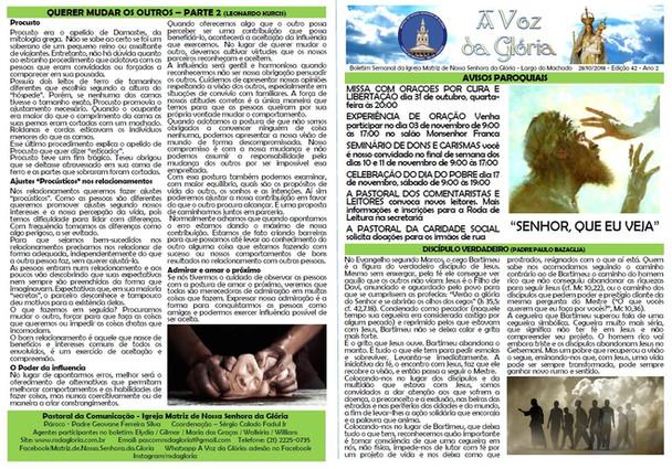 A Voz da Glória  edição 042 - Outubro 2018 - 42ª semana