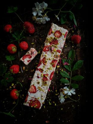 Strawberry & Pistachio Italian Nougat