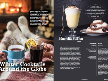 Winter Cocktails Around the Globe