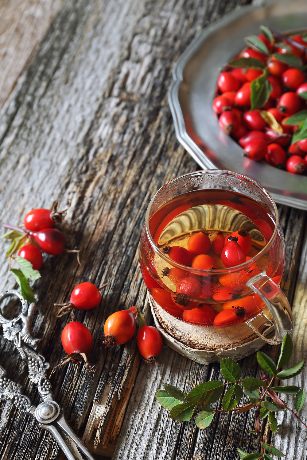 Rosehips bejeweled baubles of fall by Colleen Thompson