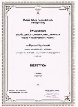 Dyplom dietetyka