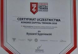 kongres trenera certyfikat