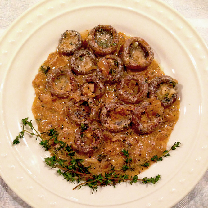 CHAMPIGNONS AU RIESLING
