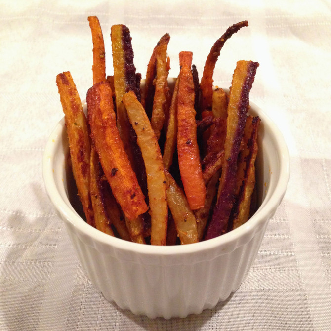 CAJUN RAINBOW CARROT FRIES