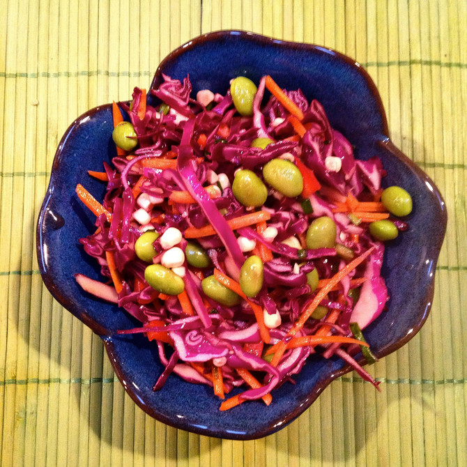 RAINBOW CRUNCH ASIAN SLAW