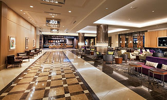 Lobby with SBUX at Sheraton Grand Seattl