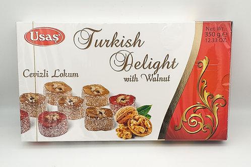 Usas Turkish Delight with Walnut coconut  350g