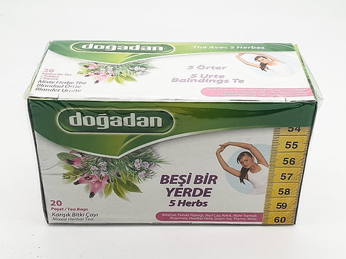 WS-Dogadan 5 in one Slimming Tea 20 bagsX12