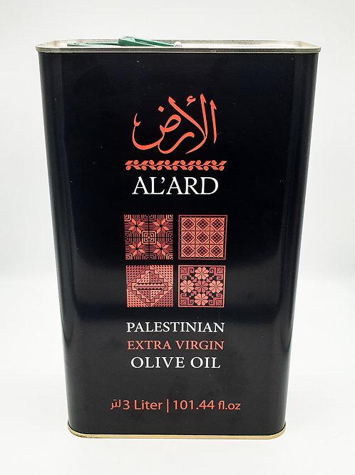 WS- Al'Ard Palestinian Organic Extra Virgin Olive oil 3Lx4