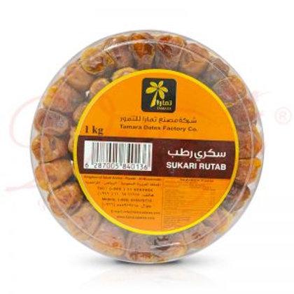 WS- Tamara Sukari Rutab Dates (Round Box Plastic)500GX16