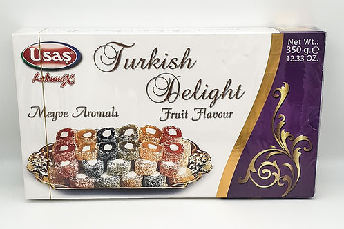 Usas Turkish Delight with Fruit Flavour 350g