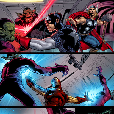 Upper Deck The Avengers: Kree-Skrull War Trading Cards page 6