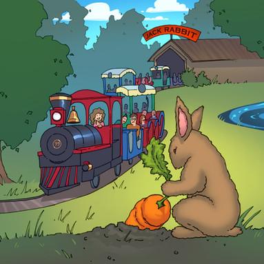 Animatronic Jack Rabbit Concept for Seabreeze Amusement Park, Rochester, NY