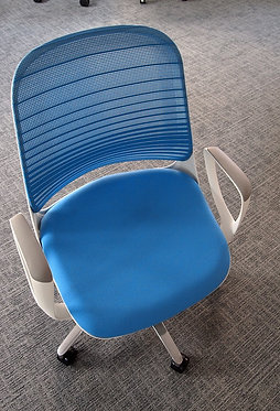 Operator Chair - Blue / White