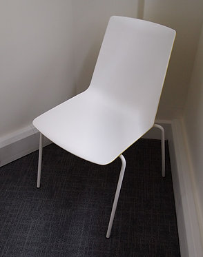 Meeting Chair - White / Yellow
