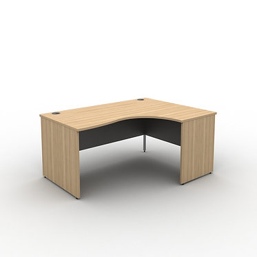 Panel End Desk Radial Desk