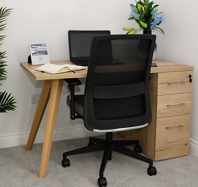 Vega Wood ~ Ped Desk