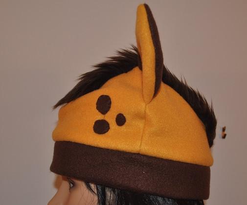 Fleece hyena ear hat