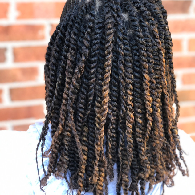 Natural two strand with cornrolls