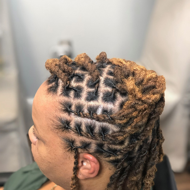 Two Strand Loc Up Do