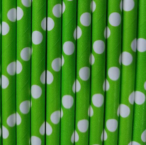 Lunares Fondo en Verde 6x210mm paquete de 500 piezas