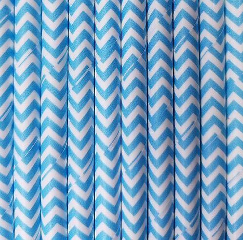 Zig zag Azul Bebe 6x210mm paquete de 500 piezas
