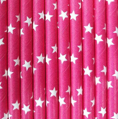 Estrellas Fondo Rosa Fiusha 6x210mm paquete de 500 piezas
