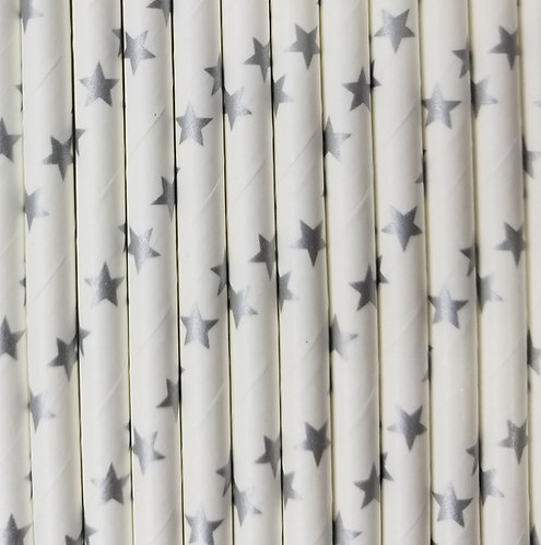 Estrellas Plata 6x210mm paquete de 500 piezas